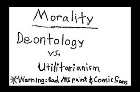 deontology vs utilitarianism Deontological (duty-based) ethics are concerned with what people do, not with the consequences of their actions.