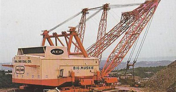 Big Muskie World S Largest Earth Moving Machine Postcard Heavy