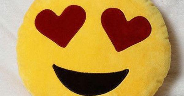Yellow Love Emoji Pillow