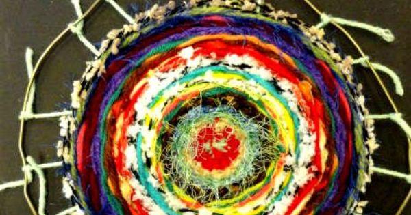 Coat hanger weaving middle school art lessons for Coat hanger art projects