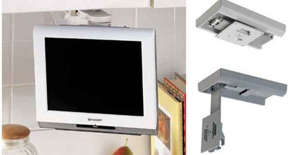Lcd tv under cabinet mount ideal for the kitchen it - Under the cabinet kitchen tv ...