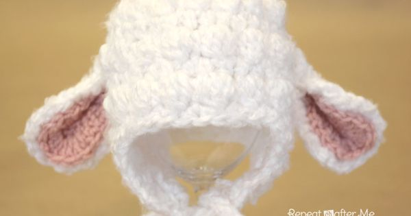 crochet baby hat pattern bulky yarn | Crochet Lamb Hat Pattern