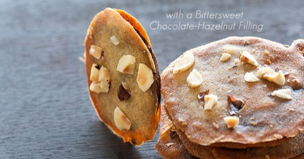 Mmm! // Banana, Butterscotch, & Hazelnut Cookie Crisps with Bittersweet Chocolate-Hazelnut Filling