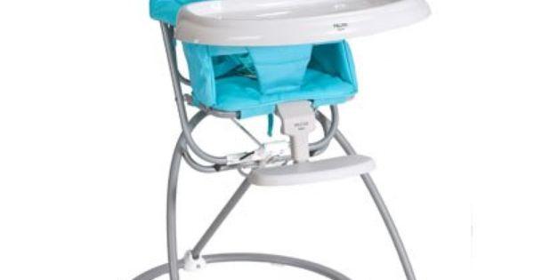 Amazon Com Valco Baby Astro Flat Fold High Chair Aqua Baby Folding High Chair High Chair Best High Chairs