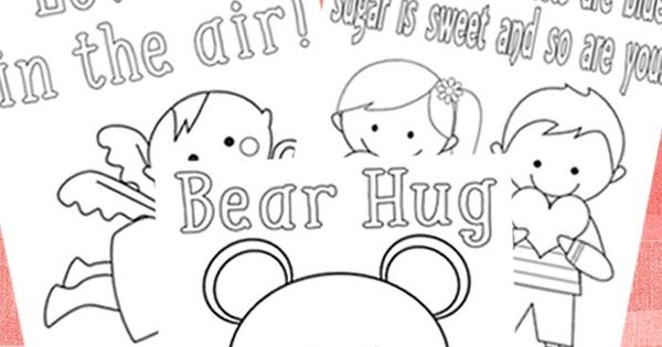 3 Sweet Valentines Day Coloring Pages