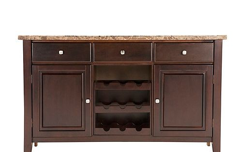 Furnish your dining room in timeless style with this Bedrock marble sideboard with wine storage ...