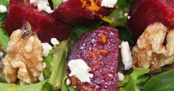 Roasted Beet Salad with Goat Cheese, Candied Walnuts Citrus ...