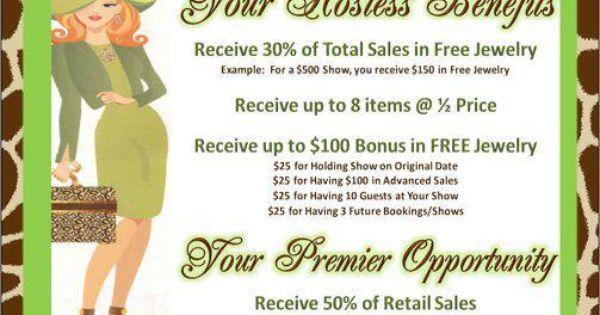 Premier Designs 39 Awesome Hostess Benefits Plan Jeweler Benefits Lovemyjewelryjob Business