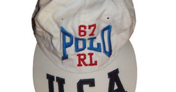 Vintage Ralph Lauren Polo Sport USA on Rim Polo RL White Cap Hat One Size
