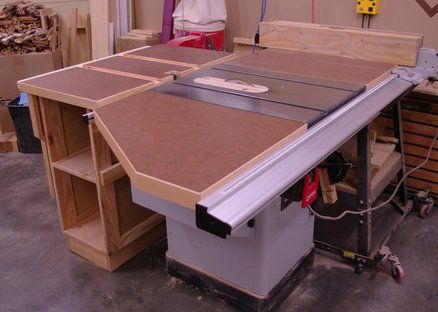 Table Saw Extension Table System Built One Similar But Larger