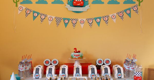 Disney Pixar's Cars Birthday Party- Lighting Mcqueen | | Kara's Party IdeasKara's