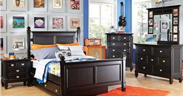 kamar tidur anak black gloss desain terbaru mewah