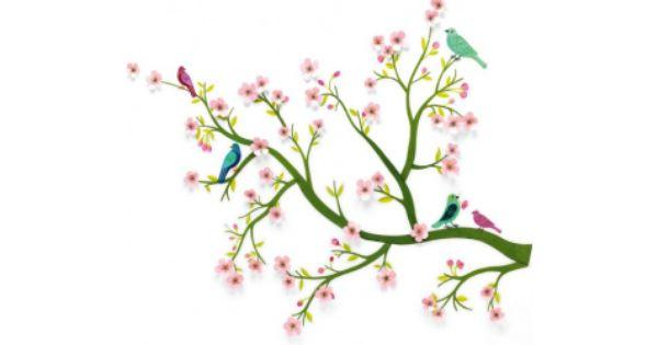 Muursticker kersenboom djeco decoratie kinderkamer 3d de boomhut baby kamer pinterest - Kinderkamer arrangement ...