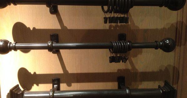 Curtain Rod Bronze Dark Metal Restoration Hardware Mid Century Modern Urban Chic British