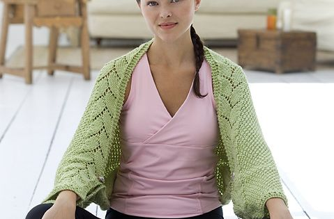 Knitting Pattern For Yoga Wrap : Ravelry: Peaceful Leaves Knit Yoga Wrap pattern by Heather ...
