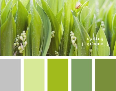 Spring greens colour palette.