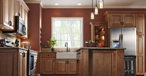 Best Kraftmaid Granville Maple In G*Ng*R The Kitchen 640 x 480