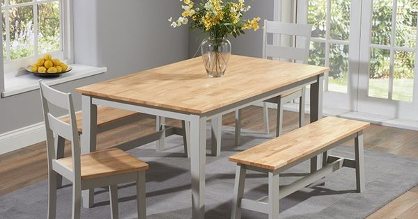 Buy the Chiltern 150cm Oak and Grey Dining Table Set with  : 3ccb846583fec890e236bff14437c93b from www.pinterest.com size 600 x 315 jpeg 36kB