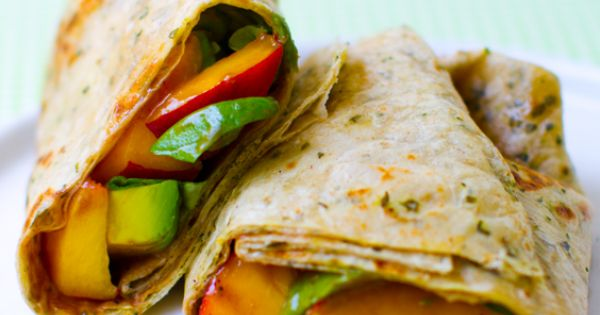 Peach Basil Avocado wraps = AWESOME Red Rocks tailgate food!