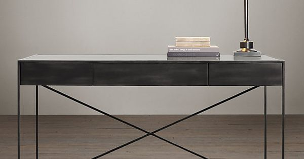 Gramercy Mirrored Desk The Marriage Of Cast Metal Frames And Antiqued Mirror Tabletops Gives
