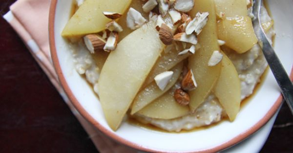 Chocolate Shavings: Steel-Cut Oats with Cinnamon Pears. I've never had a better