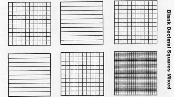 Légend image throughout printable hundredths grids