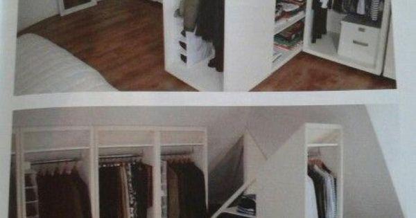 Kleiderschränke Dachschräge praktische lösung für einen kleiderschrank in einem zimmer mit dachschräge wohnen