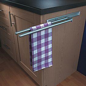 Retractable Towel Bar Google Search Towel Rail Kitchen Towel Rail Kitchen Tea Towels