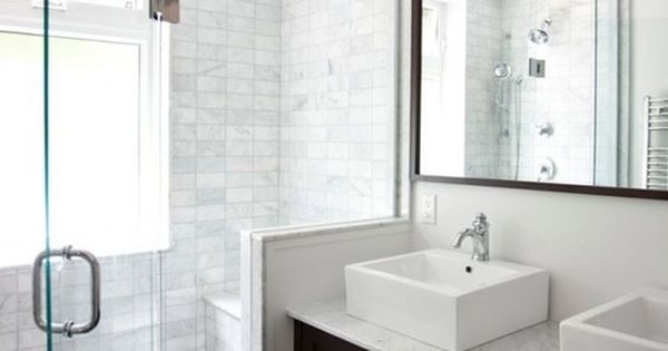 11 simple ways to make a small bathroom look bigger for Small bathroom looks