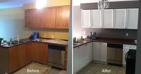 Painting Kitchen Cabinets White Before And After Pictures Images Design Inspiration
