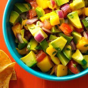 Sweet And Savory Chunky Mango Guacamole Recipe | Mango guacamole ...