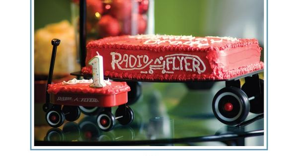 Radio Flyer 1st Birthday Party! S uch a great idea for a First Birthday Party for a little boy! Every little boy loves pushing wagons and trucks around and the star of this party Jack absolutely loves his Radio Flyer wagon! Meredith did an amazing job at pulling together the details for this themed birthday party!