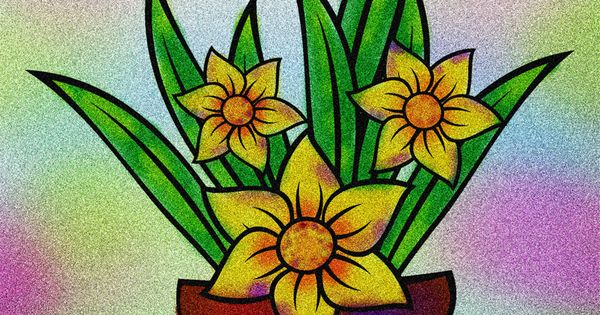 Mewarnai Bunga Dalam Pot Contoh Gambar Mewarnai Di 2021 Sketsa Bunga Sketsa Menggambar Bunga
