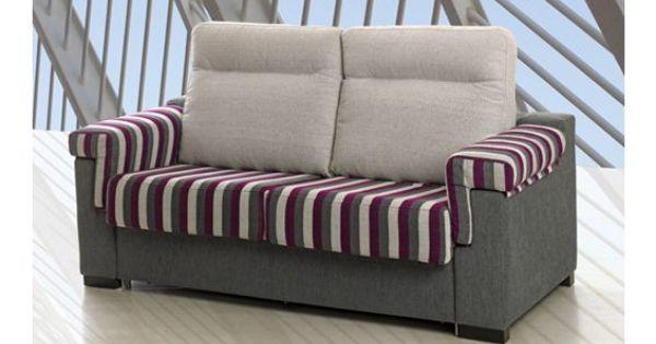 sof cama dos plazas con apertura italiana tapizado en