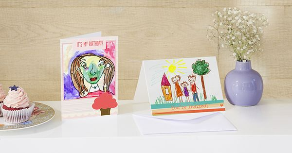 Turn Your Artwork Into Personalized Treasures Custom Photo Cards Design Your Own Card Make Business Cards