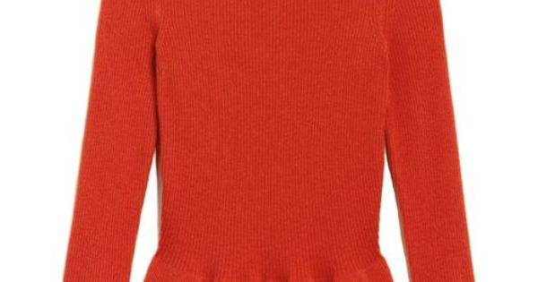 Tory Burch Madeline Peplum Sweater Love my Orange!!