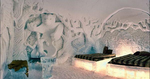 The ice hotel. Hotel de Glace in Canada.