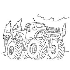 10 Wonderful Monster Truck Coloring Pages For Toddlers Monster Truck Coloring Pages Truck Coloring Pages Monster Truck Drawing
