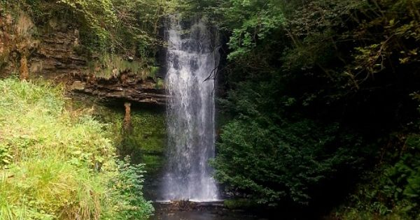 Glencar waterfall in Co, Leitrim