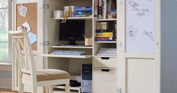 Camden Cream Computer Armoire Computer Armoires At