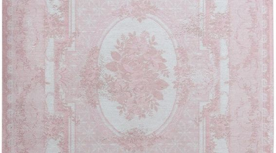 Vintage vloerkleed  wollen vloerkleed in roze  Patchwork vloerkleden ...