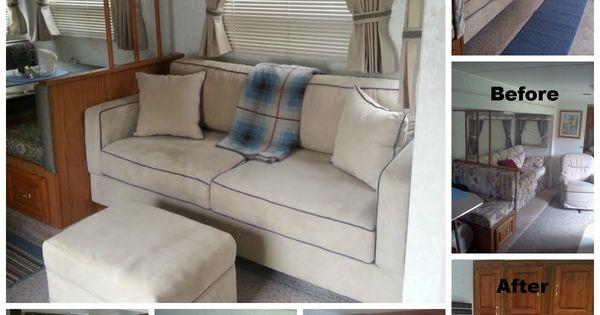 My Rv 1999 Jayco Remodel With My New Sofa 72 X 34 Sofa
