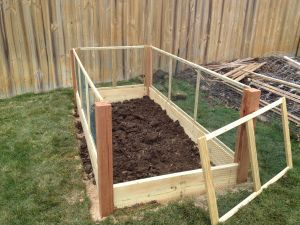 Raised Garden Bed With Removable Fence Panels With Images Diy