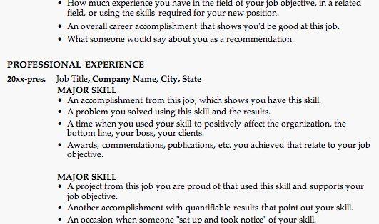 chronological resume builder - Chronological Resume Builder