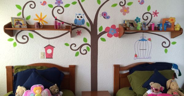 Mural infantil para ni as kids murals pinterest murales for Murales decorativos dormitorios