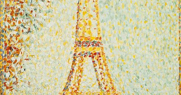 The Eiffel Tower 1889, Georges Seurat oil paintings