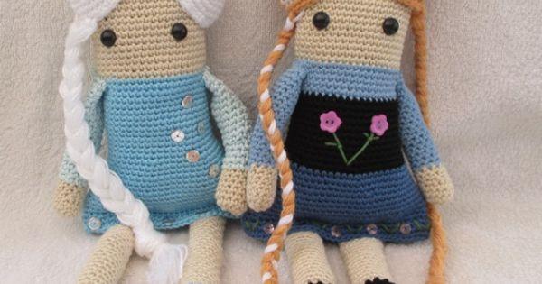 DEf Elsa y Anna patron Amigurumi patrones Pinterest ...
