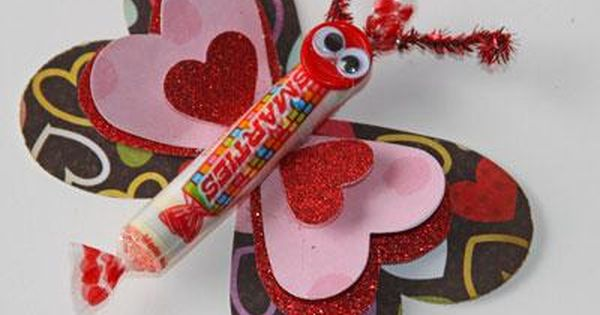 Valentine's Day Crafts For Kids (Smartie Butterfly.)