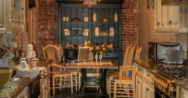 Galley kitchen with brick wall. Ideas for my dream southern home