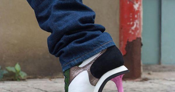 chaussures a talon design kobi levi chewing gum 2 chaussures talon design par kobi levi talon. Black Bedroom Furniture Sets. Home Design Ideas
